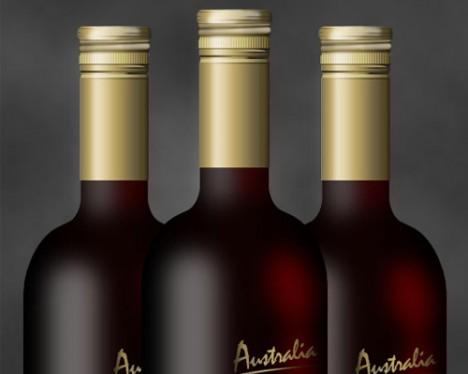 Plantilla botella de vino PSD para Photoshop (con tutorial)