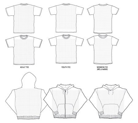 vectores camisetas