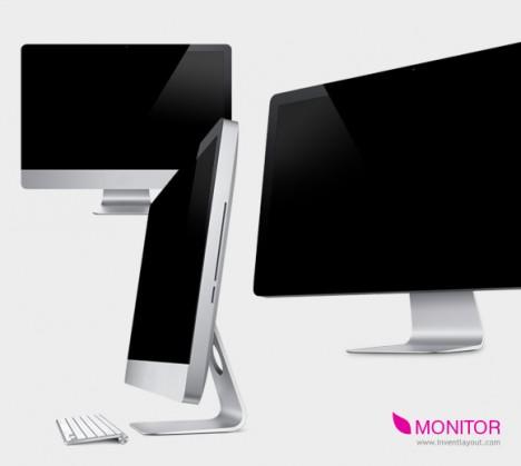 Plantilla de monitor PSD para Photoshop