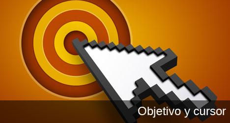 Plantilla de objetivo y cursor digital de mouse PSD