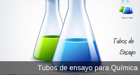 Plantilla de tubos de ensayo para química PSD