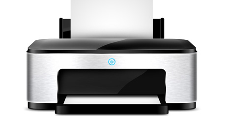Plantilla de impresora gratis PSD