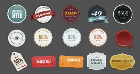 Plantilla con etiquetas vintage para descargar gratis