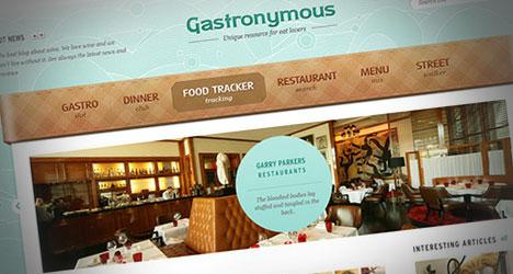 Gastronymous: Plantilla PSD para Blog de Recetas o Gastronomía