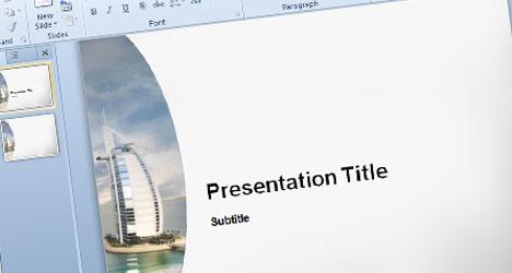 Plantilla PowerPoint de Dubai