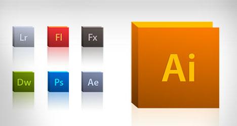 Colección de íconos de Adobe PSD