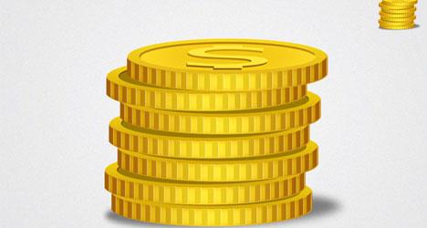 Plantilla de Monedas de Oro